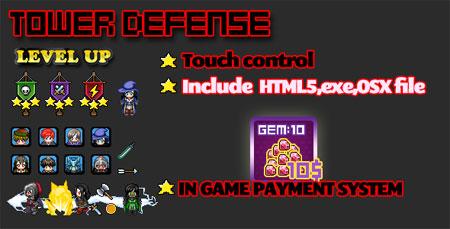 اسکریپت بازی آنلاین HTML5 با نام Defense